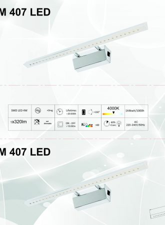 Arte chrome 407 led